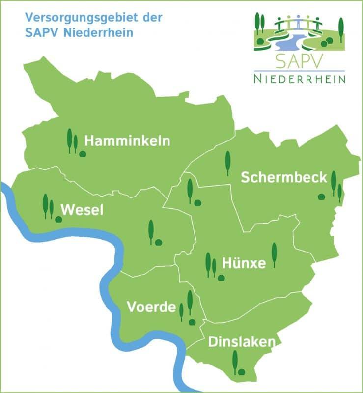 Versorgungsgebiet der SAPV Niederrhein